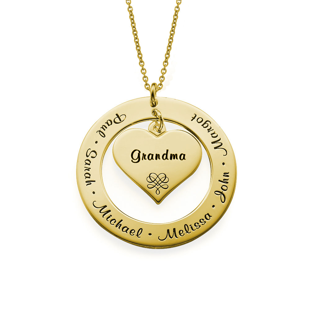 Grandmother Mother Necklace With 18k Gold Plating Israelblessing